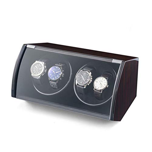 Jlxl Caja de reloj enrollable, caja de relojes con enchufe USB, 4 + 0 accesorios de caja de almacenamiento (color A: A)