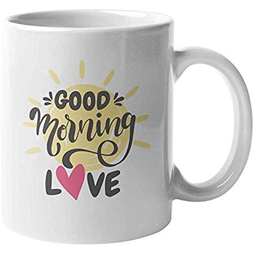 Kaffeetasse Gutenmorgen-Liebe. Kaffee Tee Geschenkbecher für GF BF Ehemann Ehefrau Tasse Porzellanbecher Keramikbecher Kaffeebecher Porzellantasse Becher 110z