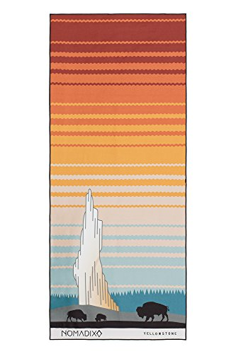 Nomadix Towel - Perfect for Yoga, Camping, Beach and Travel (Yellowstone - Sunrise)
