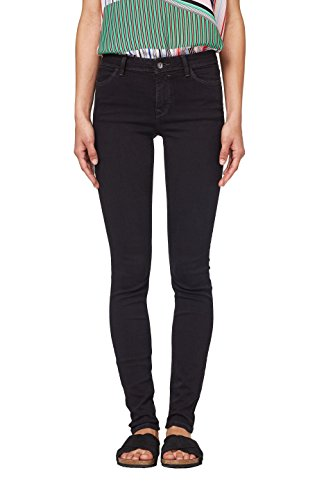 edc by ESPRIT Damen 998CC1B816 Skinny Jeans, Schwarz (Black Rinse 910), W30/L32