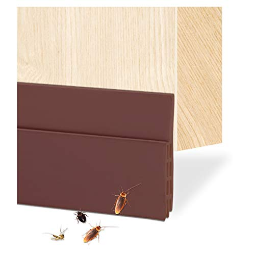 Ruiqas ドア底部シールストリップ ドア テープ 隙間 シリコーンゴム製 ドアストリップ 自己粘着性 窓 ドアのギャップ ドアの裏側 シール 防風 防音 冷暖房効率アップ 省エネ 防虫吸音 (ブラウン)