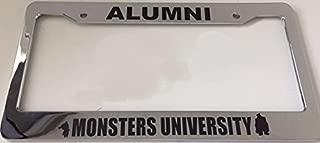 Alumni Monsters University - Very Cute - Chrome Automotive License Plate Frame - Funny