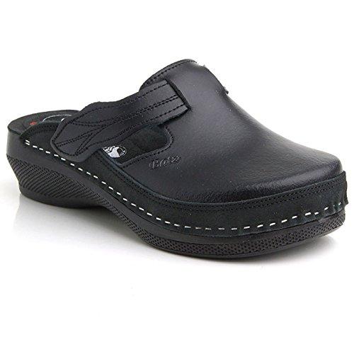 Batz FLOWER Licht en Flexibel Handgemaakte Hoogwaardige Lederen Sandalen Klompen Muilezels Slippers Schoenen Dames