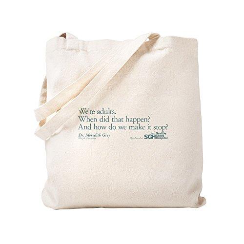 CafePress–Wir sind Erwachsene–Grey \'s Anatomy Zitat–Leinwand Natur Tasche, Reinigungstuch Einkaufstasche Tote S khaki