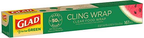 Glad to Be Green 50% Plant-Based Cling Wrap - 161 sq Feet