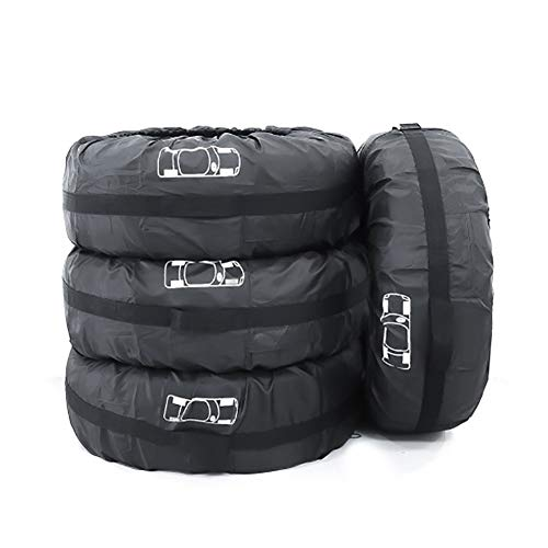 z-snowman Tire Cover 4 Pieces of Gray tire Cover. Dust-Proof Universal Tires, Suitable for Off-Road Vehicles, Off-Road Trucks, Cars, Vans, and Commercial Vehicles (80cm, Gray)