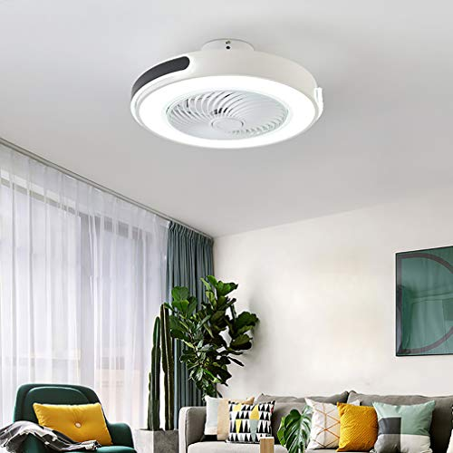 YUNZI 60W Dormitorio LED Lamparas Ventilador De Techo con Mando, 3 Velocidades con Temporizador Regulable Ventilador Techo con Luz 43W Moderno Sala Silencioso Lamparas Ventilador De Techo