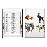 igsticker kindle paperwhite 第4世代 専用スキンシール キンドル ペーパーホワイト タブレット 電子書籍 裏表2枚セット カバー 保護 フィルム ステッカー 015881 動物 animal アニマル