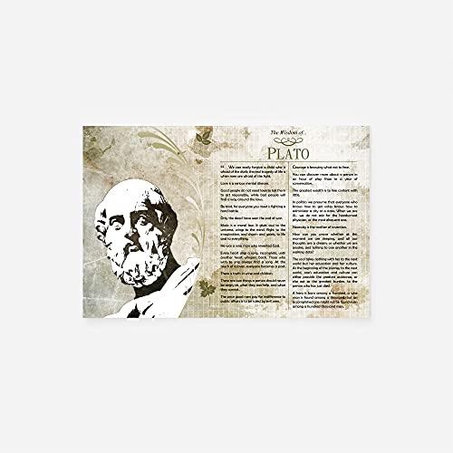 // TPCK // Poster La Saggezza di Platone - Stampa Fotografica Regalo Motivazione - Formato A2 (42 x 59,4 cm)