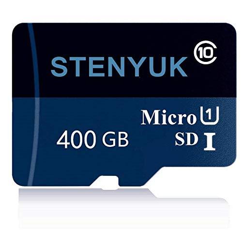 Tarjetas de memoria Micro SDXC Class 10 Micro SDXC de 400 GB de memoria SD, tarjeta Micro TF para smartphones y otros dispositivos (400 GB)
