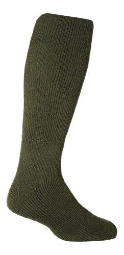 HEAT HOLDERS - Chaussettes hautes - Uni - Homme Vert Vert forêt Large