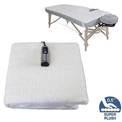 """EARTHLITE Massage Table Warmer & Fleece Pad (2 in 1) - 3 Heat Settings, Cozy 0.5"""" Fleece - Updated Controller (30 x 72)"""