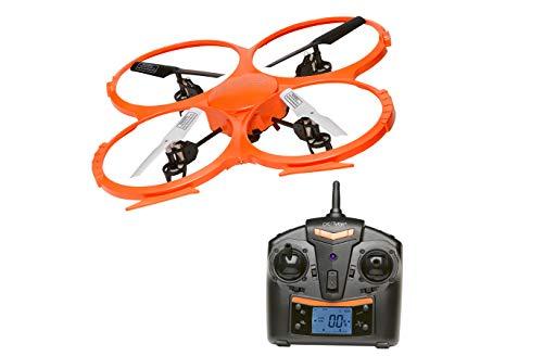 Drone con Cámara Cuadricóptero Denver DCH-330. Cámara HD integrada. Función de giroscopio de 6 Ejes. 4 Canales. Alta Estabilidad. Frecuencia del Control Remoto 2.4GHz. Gran tamaño