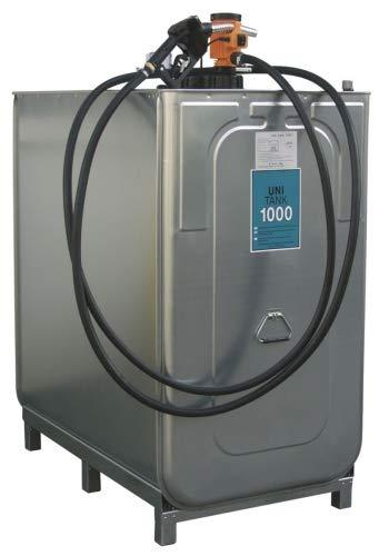 Dieseltank UNI 1000 l, 230 V instappakket BxDxH 1280x770x1420 mm