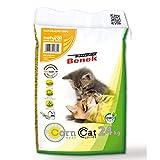 SUPER7 Super Benek - Arena Natural de maíz para Gatos (40 litros) 26,7 kg 100% Materiales Naturales a Base de Plantas, Desechables, Muy absorbentes + espray removedor de olores y Manchas
