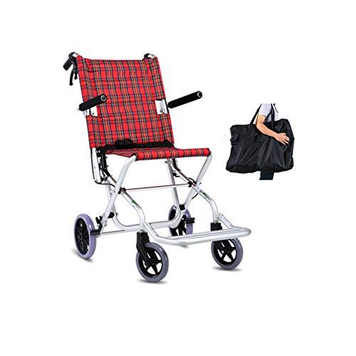 Vier wielen Vouwstoel Draagbare Platte Wiel Trein Trip Meter Rolstoel Wielen Geschikt voor Ouderen met een handicap in De onderste ledematen hyperosteoporose Osteogenese Schade