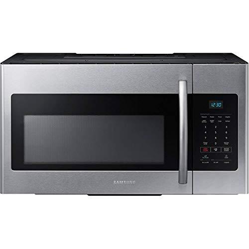 Samsung ME16H702SES 1.6 Cubic Foot 1000 Watt Over the Range Fingerprint Resistant Microwave Oven, Stainless Steel (Renewed)