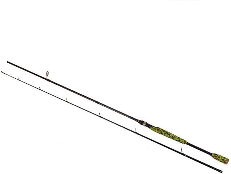 HWLX Locken Rute hart stilvolle grüne Angelrute Power Carbon Spinning Casting Rod geraden Griff Pistolengriff