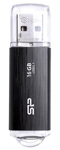 シリコンパワー USBメモリ 16GB USB3.1 & USB3.0 ヘアライン仕上げ 永久保証 Blaze B02 SP016GBUF3B02V1K