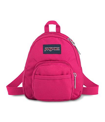 JanSport Quarter Pint Backpack - Stylish Mini Pack to Crossbody Day Bag, Bright Beet