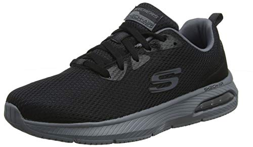 Skechers Dyna-Air, Zapatillas Hombre, Negro (BKCC Black Mesh/Charcoal Trim), 43 EU