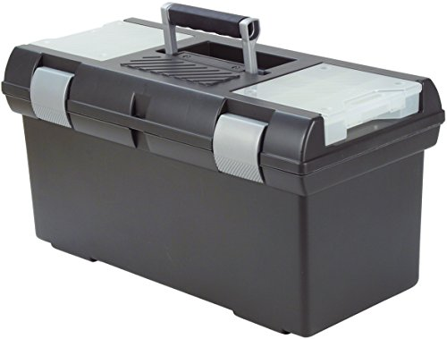 CURVER Premium 24\'\' Werkzeugkasten, Plastik, anthrazit/Silber, 58 x 29 x 30 cm