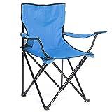Arcoiris Silla de Camping, 2 Undiades,Silla de Acampada Plegable (Azul Claro, 2 Pack)