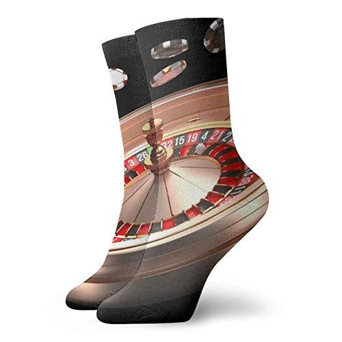 Poker Game Table Unisex Atmungsaktive Neuheit Quarter Socken Crew Socken Herren Athletic Socken Running