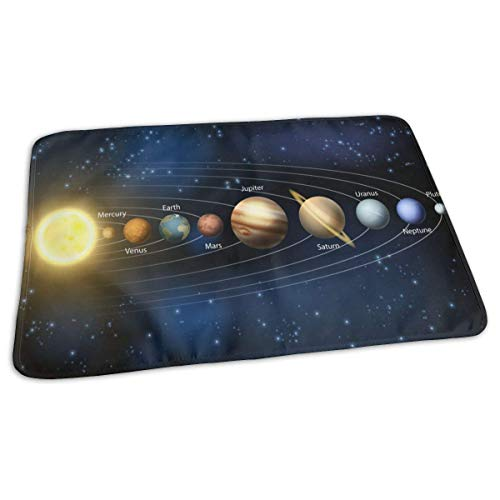 Planets of Our Solar System Housse de matelas à langer réutilisable pour bébé 27,5 x 19,7 cm