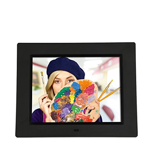 Rollei Degas DPF-800 Digitaler Bilderrahmen (mit 8.0 Zoll (20,3 cm) TFT-LED Panel, Uhrzeitanzeige, Kalenderfunktion, Diashow und Dreh-Funktion, inkl. Fernbedienung) schwarz