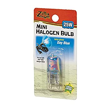Zilla Reptile Terrarium Heat Lamps Mini Halogen Bulb Day Blue 25W