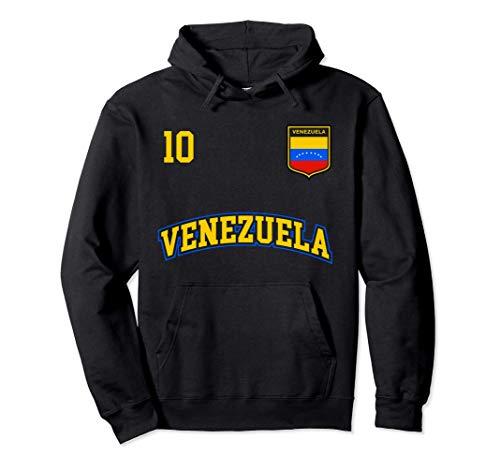 Squadra Calcio Venezuela Numero 10 Bandiera Venezuelano Felpa con Cappuccio