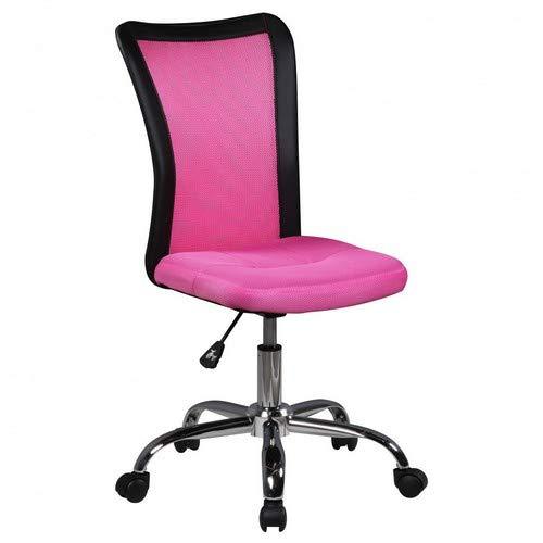 Amstyle Lukas kinderbureaustoel, stof, roze, 42 x 90 x 42 cm