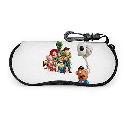 Toy Story Eyeglass Case Glasses Case Ultra Light Neoprene Portable Travel Multifunction Zipper Sunglasses Cases
