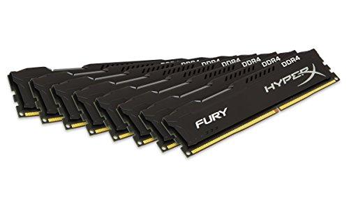 Kingston HyperX Fury HX421C14FBK8/64 64GB Arbeitsspeicher kit (8x8GB) (2133MHz DDR4 Non-ECC CL14 DIMM (Skylake compatible))