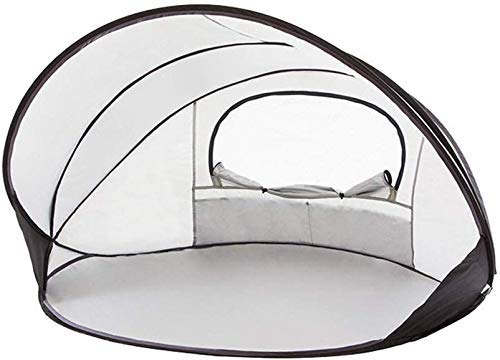 LHQ-HQ 1-2 Refugio Persona Sun Beach Carpa Impermeable Sombra del pabellón de Deportes al Aire Libre Montañismo Viajes Rainfly (Color : Silver)