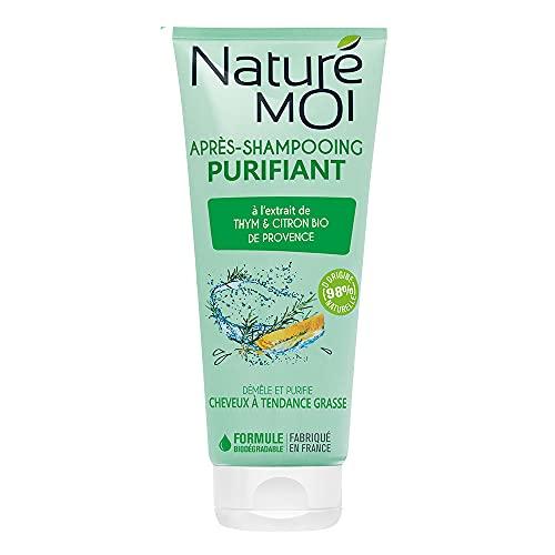 Naturé Moi – Après-shampooing purifiant – À l'extrait de thym et de citron de Provence – Démêle et purifie les cheveux à tendance grasse – 200ml