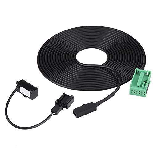 Yunnyp Auto-bluetooth-kabel en microfoon, bluetooth-wring-microfoonkabel-adapterkit voor RNS 315 Bluetooth 1j0 973 332 3b0 035 711 b