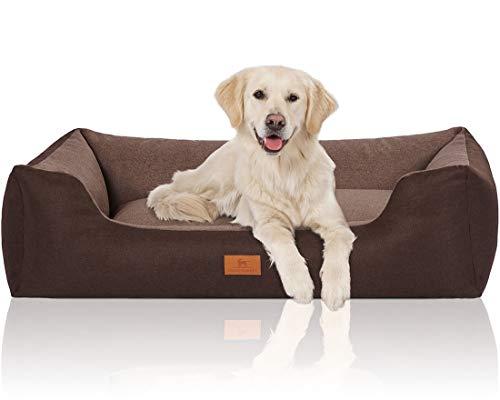 Knuffelwuff 14096-006 Hundebett Hundekörbchen Hundesofa Hundekissen Hundekorb Bezug Waschbar Luke Xl Braun-Potatoe