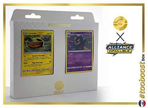 Limonde (Stunfisk) 56/214 & Ectoplasma (Gengar) 70/214 - #tooboost X Soleil & Lune 10 Alliance Infaillible - Doos met 10 Franse Pokemon kaarten