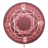DIROLVON 魔法陣 ワイヤレス充電器 LED 円形 5W/10W 急速 置くだけ充電 六芒星 魔術 USB無線充電器 (ピンク, 5W)