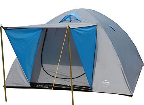 TTYUIO Zelt Iglu 2 Doppeldach Kuppelzelt mit Vordach Igluzelt 210x205x130cm 3 Personen 1500mm Wassersäule wettergeschützter Eingang Outdoor Wandern Familie Camping