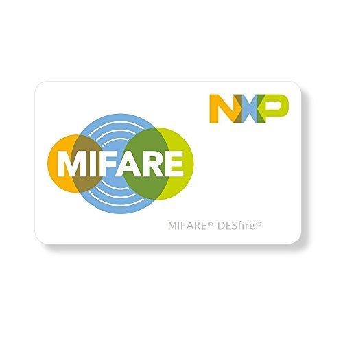 MIFARE® DESFire EV2 8K CARDS CR80 - Tarjetas de plástico en blanco (100 unidades)