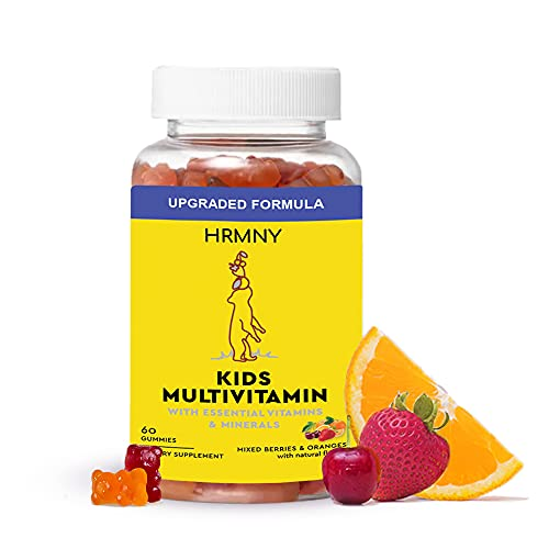 Daily Kids Gummy Multivitamins, 30 Day Supply: Vitamin D3, C and Zinc for Immunity, B12 Methylcobalamin for Energy, Folate for Cognitive, Vitamin A for Eye Support, Gluten-free, Non-GMO, Allergen-free