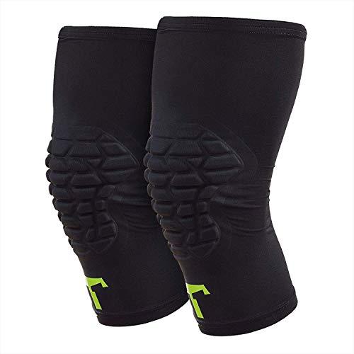 T1TAN Knee Guard Knieschützer mit Kompression - Torwart Anti-Rutsch Knieschoner - Knie Protektor schwarz Gr. S
