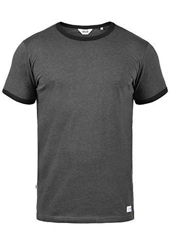 !Solid Manoldo Herren T-Shirt Kurzarm Shirt Mit Rundhalsausschnitt, Größe:XL, Farbe:Forged Iron Melange (2820M)