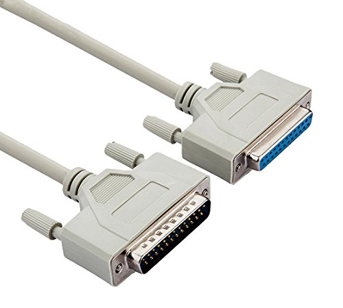 BeElion 16.4 Feet DB25 Male to Female M/F Extension IEEE1284 Parallel Serial Cable,5-Meter