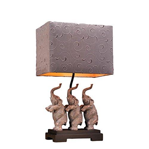 Lampe de bureau rétro européen chambre lampe de chevet lampe éléphant