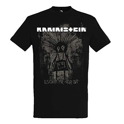 Rammstein Herren T-Shirt Dam Dam Offizielles Band Merchandise Fan Shirt schwarz mit mehrfarbigem Front Print (XL)