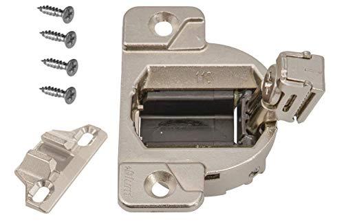 Blum 33.3600 Charnière compacte 110 degrés avec plaque de montage superposé 1 3/8 (pièce # 133.0240) 1 lot